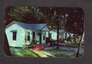 FL Suwannee Gables Court Cabins Old Town Florida Postcard
