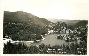 Black Hills South Dakota~Birdseye Sylvan Lake~Lodge~1940s Real Photo~RPPC