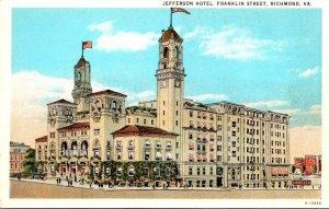 Virginia Richmond Jefferson Hotel Franklin Street Curteich