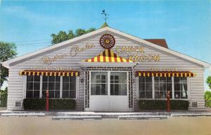 Villa Park Illinois~Montana Charlie's Chuck Wagon~Fountain Service~1950s Pc