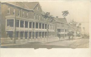 C-1915 Massachusetts Military Base RPPC Photo Postcard 13357