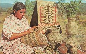 Postcard Indian Basket Maker