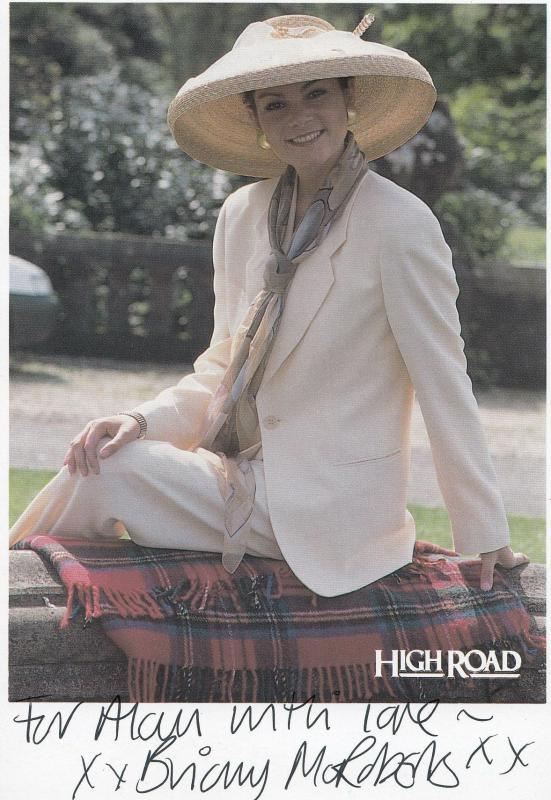 Briony McRoberts Take The High Road Hand Signed Photo