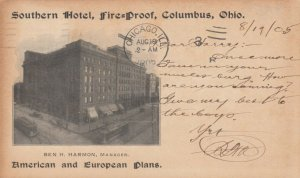 COLUMBUS, Ohio, 1905 ; Southern Hotel Fire-Proof