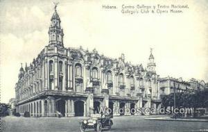 Cuba, Republica de Cuba Habana Centro Gallego y Teatro Nacional