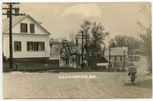 Harrington ME Photographers Motorcycle RPPC Postcard