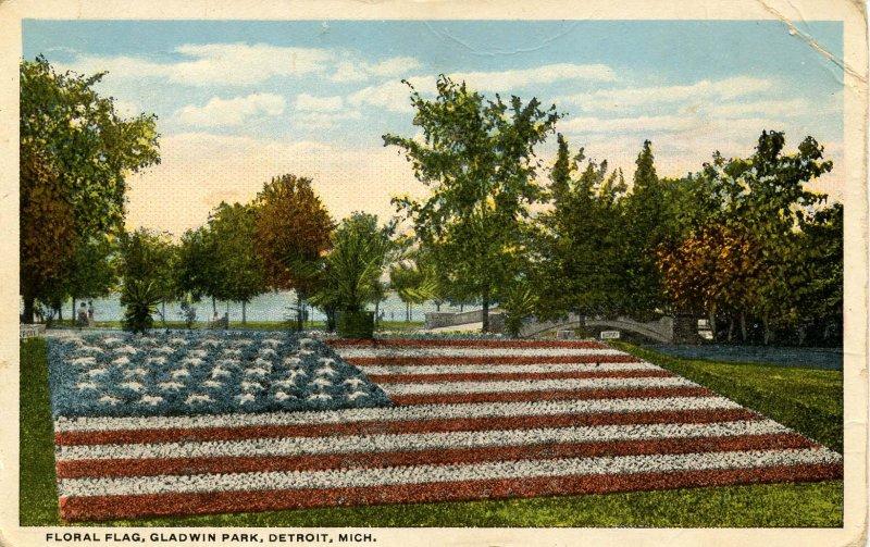 MI - Detroit. Gladwin Park, Floral Flag