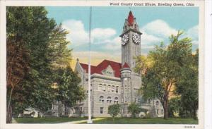 Ohio Bowling Green Wood County Court House Curteich