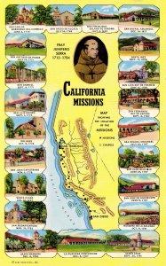 CA - California Missions. Map, Multi-View