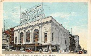 Omaha Nebraska~World Theatre~Photoplays & Vaudeville~Julius Orkin Clothing~1924