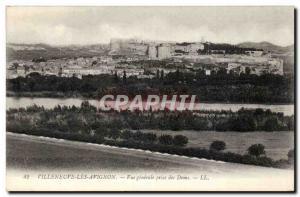 Old Postcard Villeneuve Avignon General view taken Doms