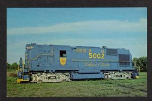 NY Delaware & Hudson Railroad Train Loco 5002 VOORHEESVILLE NEW YORK Postcard