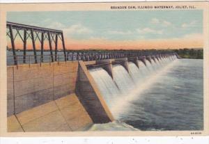 Illinois Joliet Brandon Dam On Illinois Waterway Curteich