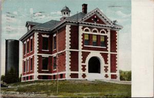 High School Oldtown Maine ME c1913 Antique Postcard D81