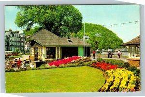 Minehead UK-United Kingdom, Promenade Gardens, Chrome Postcard