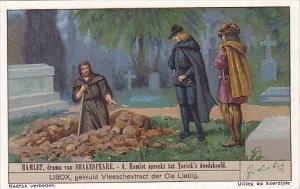 Liebig Vintage Trade Card S1327 Hamlet 1936 No 4 Hamlet spreekt tot Yorick's ...