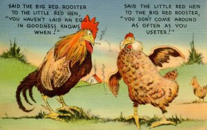 Humor - Said the big red rooster…
