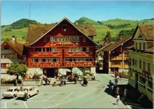 Hotel Santis Appenzell Switzerland Landsgemeindeplatz Unused Postcard D34