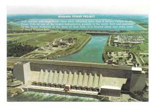 NY Niagara Power Project Hydroelectric Dam New York Postcard