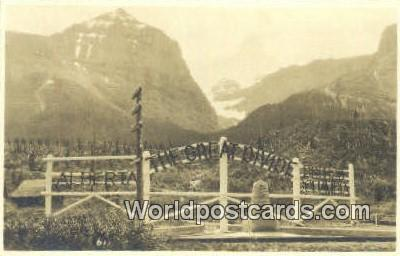 Canada Alberta The Great Divide Real Photo