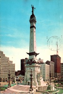 Indiana Indianapolis Soldiers and Sailors Monument 1969