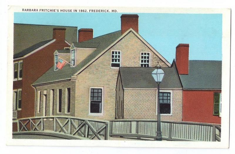Barbara Fritchie House Postcard Frederick MD