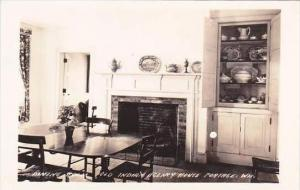 Wisconsin Portage Indian Agency House Dining Room Real Photo RPPC