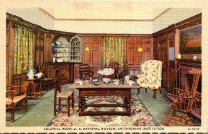Washington D C Smithsonian Institution Colonial Room Curteich