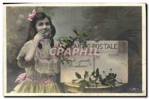 Old Postcard Postcards Child Sower 10c