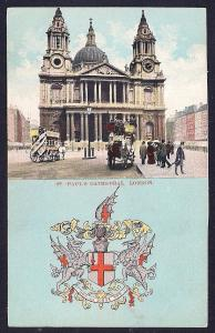 St Paul Cathedral London England unused c1910's