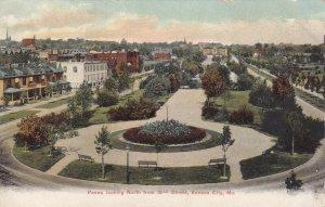 KANSAS CITY, Missouri, 1900-1910's; Paseo Looking North From 18th Street