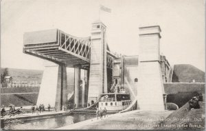 Peterborough ON Hydraulic Lift Lock Largest In World Unused Postcard E79