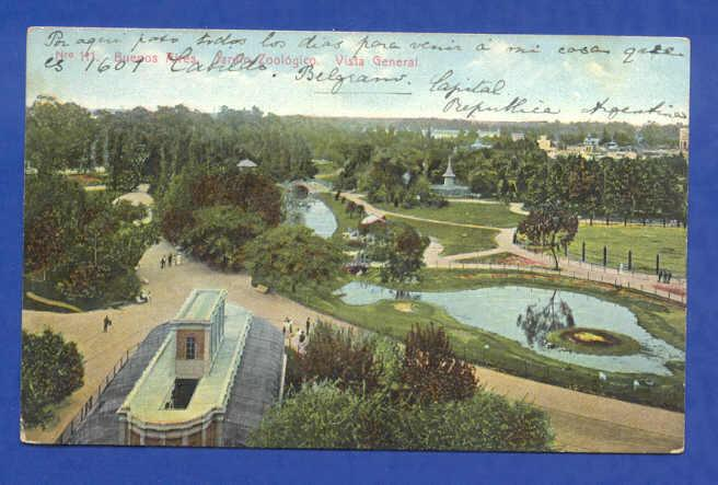 PC ARGENTINA BUENOS AIRES ZOO ZOOLOGICAL GARDEN 1910s