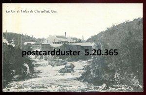 365 - CHICOUTIMI Quebec Postcard 1920s Pulp Mill by de Moor