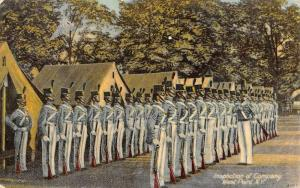 West Point New York Inspection Of Company Military Antique Postcard K431323