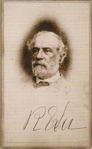 CIVIL WAR, Portrait of Confederate General Robert E Lee, CSA, Advert Boston MA