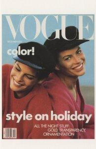 Carre Otis & Linda Evangelista Suntanned Vogue MagazinePostcard