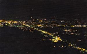 Tennessee Chattanooga A View Of Downtown At Night From Lookout Mountain