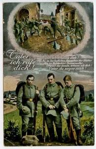 Germany Early Military Feldpost Cancel Vater ich rufe dich Memorial 4 Postcard