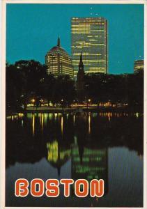 Massachusetts Boston The Hancock Buildings At Dusk 1952