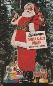 Santa Claus 40 foot tall at North Pole AK, Alaska - Roadside