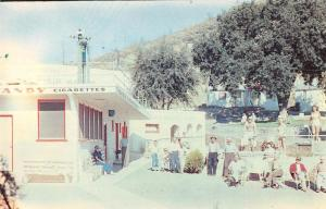 Middletown California guests outside Howard Hot Springs vintage pc Z40017
