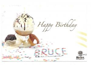 Britt Cafe Personalized Birthday Advertising Postcard 2007