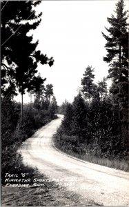 Engadine MI Hiawatha sportman's club trail G RPPC vintage