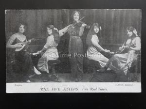 THE FIVE SISTER Musical Band PIANO VIOLIN & MANDOLIN c1905 PC by Claude Harris