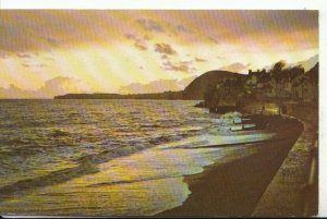Devon Postcard - Sunset Over The Bay - Sidmouth - Ref 16391A
