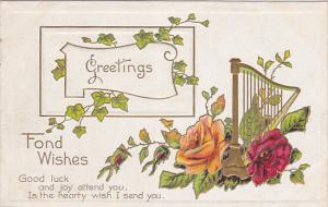 Greetings, Fond Wishes, Good luck and joy attend you, Is the hearty wish I se...