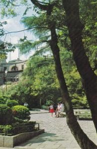 Shanghai , CHINA , 60-90s ; Garden at the junction of crossroads