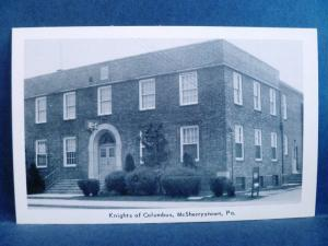 Postcard PA McSherrystown Knights of Columbus Building