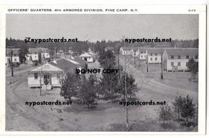 Officers Quarters 4th Armored Div. Pine Camp NY